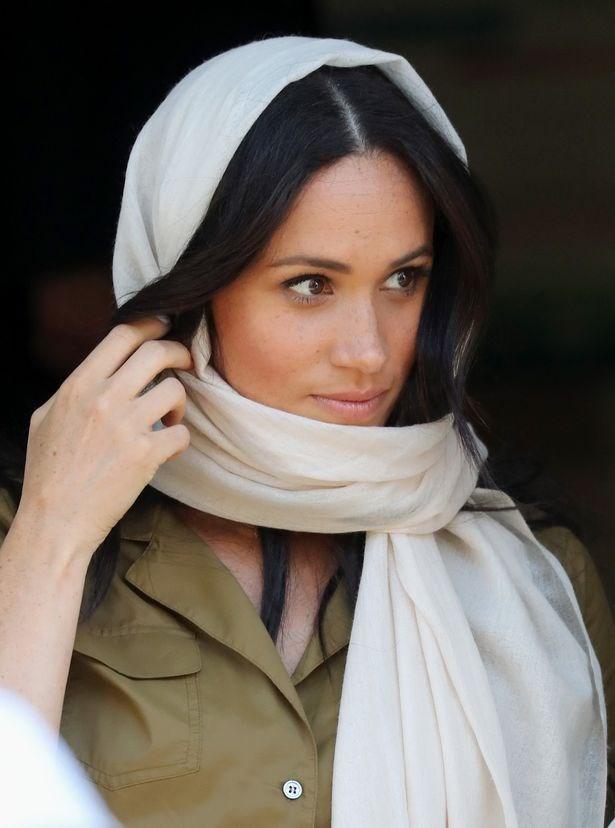 Image result for ميغان ماركل ترتدي الحجاب لأول مرّة